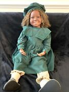 """Vintage 1998 Anna 9/25 Limited Edition 32"""" Doll By Pauline Middleton Signed"""