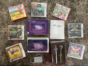 Nintendo 3ds Xl Galaxy Style 1gb Purple Handheld Console With Seven Games And ..