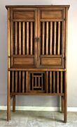 Rare Antique Chinese Camphor Wooden Tall Storage Cabinet 18 Th C.