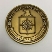 Central Intelligence Agency Cia Logo And Blank Back 1.75 Coin