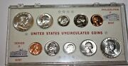 1963 Pd Brilliant Uncirculated High Grade Silver Coin Sets In Plastic Holder