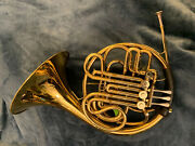 Excellent Condition Used Conn 6d French Horn Double And Hard Case W/ Strap