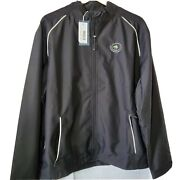 New Cutter And Buck Menand039s Medium M Weathertec Black Reflect Beacon Full Zip Jacket