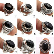 Black Onyx Gemstone Ring 925 Sterling Silver Handmade Jewelry Ask Size 6 To10 Us