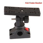 Universal Rotatable Electronic Fish Finder Mount Plate Rotating Boat Support_bk