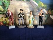 4 Ks Collection Figurines Doctor, Responder ,arch Angel And Oliver Hardy