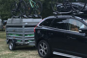 Erde 198 Trailer Camping Abs Hard Top Extra Height + 4 Thule Bike Carriers