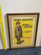 Girl Scout Recruiting Poster Early Teens Framed Original
