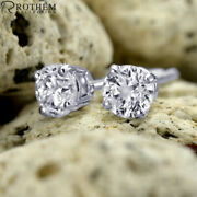2.14 Ct Solitaire Diamond Earrings White Gold Stud I3 Msrp 6650 03252024