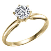 Solitaire Diamond Engagement Ring Yellow Gold 14k 0.82 Carat I1 F 10352609