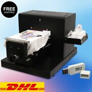 Dtg Flatbed Multicolor Printer A4 T-shirt Clothes Printing Machine White / Dark