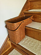 Longaberger Classic 1995 Odds N Ends Stair Step It Up Basket And Protector