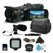 Canon Vixia Hf G40 Camcorder 1005c002 With Wide Angle Lens Case Light + More