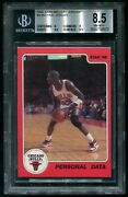 1986 Star Michael Jordan 9 Personal Data Rookie Rc Chicago Bulls Nm-mt+ Bgs 8.5