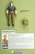 1985 Flint V.1 Gi Joe Warrant Officer 100 Complete W/fc File Card Jtc