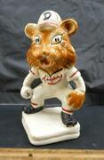 Very Rare 1940s Detroit Tigers Head Stanford Ceramic Pottery Coin Baseball Bank