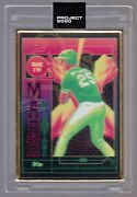 2020 Project Topps 276 Mark Mcgwire Rc Matt Taylor 1/1 Gold Frame Framed A's