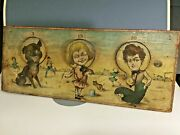Antique Buster Brown/ Tige Bliss Paper Litho On Wood Beanbag Toss Game