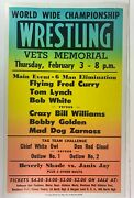 Vintage World Wide Championship Wrestling Event Poster Chief White Owl Wwf Nwa