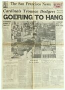 Front Page The San Francisco News Newspaper Ca Oct 1st 1946 Goering To Hang Wwii