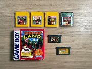 6 X Donkey Kong Per Gamboy E Color Gba - Land 1 2 3 + Country - Game Boy Color