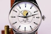 Ball Watch Train Master Moon Face Nm3082d Automatic Silver Round Analog Mens 238
