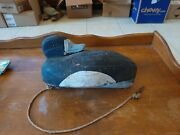 Vintage Bluebill Sleeper Decoy Detroit Downriver Bobtail Design