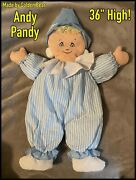 Andy Pandy Soft Toy 36 Made By Golden Bear - Large Childs Comforter Collectible