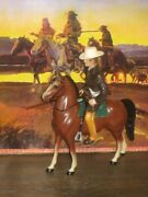 Hartland Jim Bowie Complete With Cowboy Horse Hat Rifle Knife