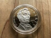 2009 Abraham Lincoln Commemorative Proof Silver Dollar Coin With Box And Coa