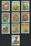 South Africa 1970 Protea Plants Perf 12andfrac12 Odd Mint Values Some Hinge Remnants
