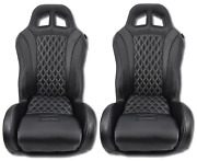 Black-diamond Stitch Carbon Canam X3 Max Turbo R Suspension Seats By Aces Racing