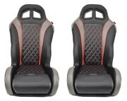 Red And Black Polaris Rzr Seats 1000/turbo Pair Aftermarket-extreme Comfort