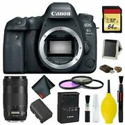 Canon Eos 6d Mark Ii Dslr Camera Body Only Complete Kit Intl Model W/canon Ef