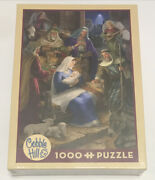 """Cobble Hill """"holy Night"""" 1000 Piece Jigsaw Puzzle 19.25x26.625 - New Sealed"""