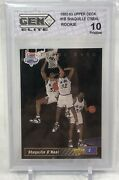 1992 Upper Deck Trade Card Shaquille Oand039neal Rookie Rc 1b Gma 10 🔥📈