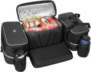 Atv Rear Storage Bag Pack Seat Padded Bottom Bags W/cushion Soft Cooler Bags