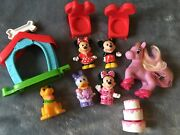 Fisher Price Little People Mickey Minnie Mouse Daisy Duck Pluto + My Little Pony