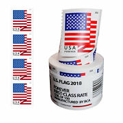 Roll Of 100 Stamps Usps 2018 Us Flag Forever Postage Stamps Free And Fast Shipping