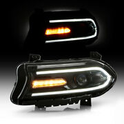 [driver] Bi-xenon Headlight Oe-style Headlamp Left Side For 15-18 Dodge Charger