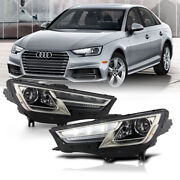 [led Drl Strip] For 17-19 Audi A4 S4 D5s Xenon Projector Headlight Replacement