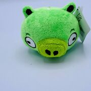 Angry Birds Green King Pig Plush Backpack Keychain Clip On Toy Bag Clip 3 New