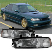 For 96-97 Subaru Legacy [factory Style] Chrome Reflector Headlights Lamps Pair
