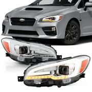 For 15-20 Subaru Wrx Sequential Signal Projector Led Replacement Headlight Set