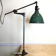 Early Oc White Extendable Lamp W Oc Arm All Original