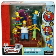 Mcfarlane Toys The Simpsons Deluxe Boxed Sets Family Couch Gag Figure Set New