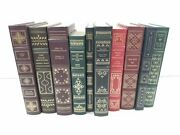 Franklin Library Book Lot Of 10 Mann Dickens Twain Shakespeare Voltaire Moliere