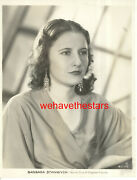 Vintage Barbara Stanwyck Pre-code And03933 Baby Face Wb Publicity Portrait