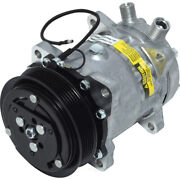 New A/c Compressor W/ Clutch Ac For Ford New Holland Bale Wagon Ts Windrower