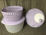 Tupperware Spin N Save Salad / Pasta Spinner + Bowl, Colander And Seal Lilac New